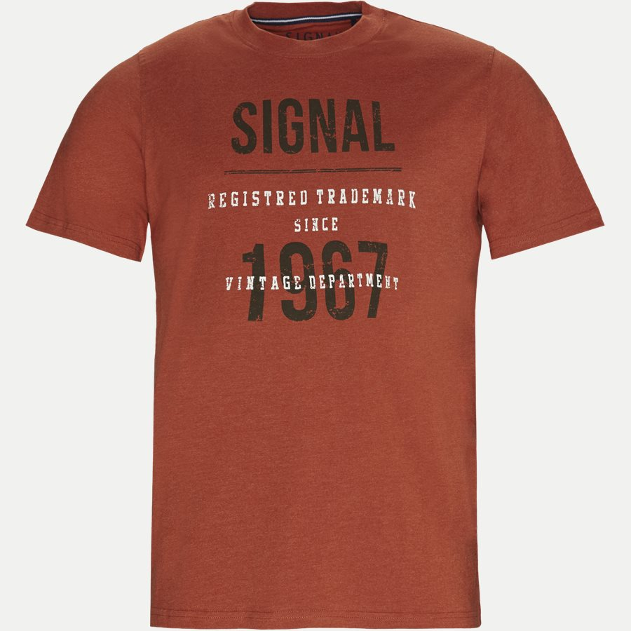 SHANE - Logo T-shirt - T-shirts - Regular - ORANGE MELANGE - 1